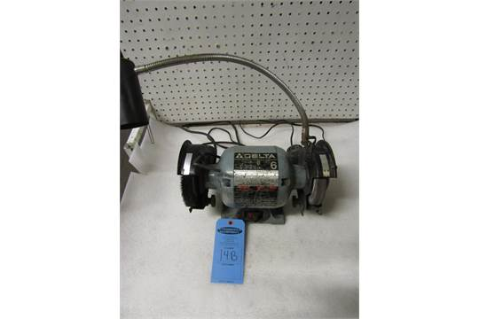 Swell Delta 6 Bench Grinder With Light Model 23 681 120V Lamtechconsult Wood Chair Design Ideas Lamtechconsultcom