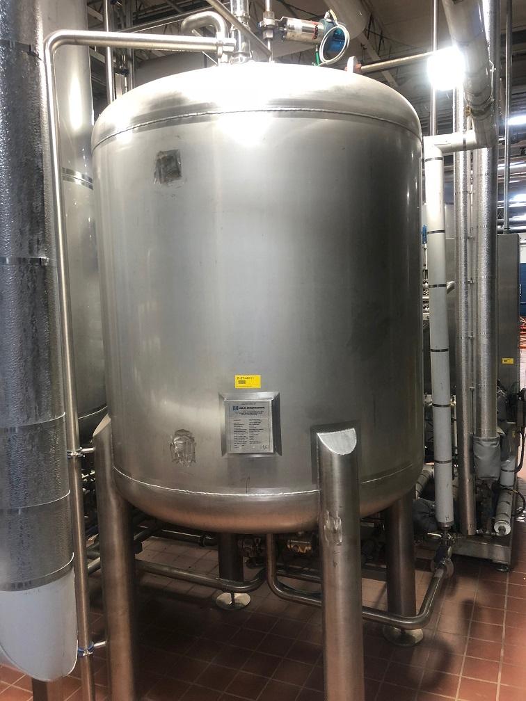 Lot 4 - 2008 Plough Eng. Model 40HL Flash Pasteurizer, Ctrls, Heat Exchangers, Beer & Tanks | Rig Fee: $500