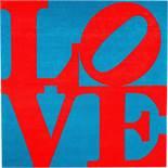"Robert Indiana. ""Chosen Love"" (Red on Blue Love). 1995"