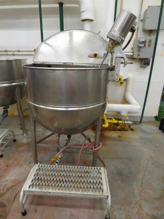 Groen Stainless Steel Jacketed Steam Kettle with Mixer