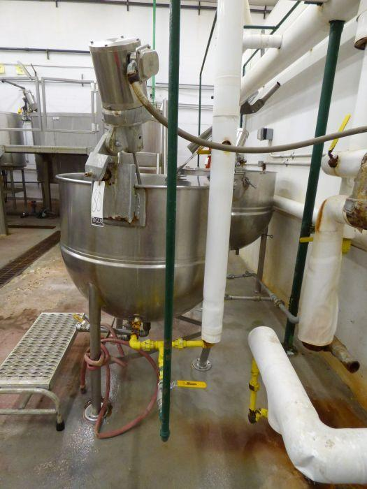 Groen Stainless Steel Jacketed Steam Kettle with Mixer - Image 5 of 8
