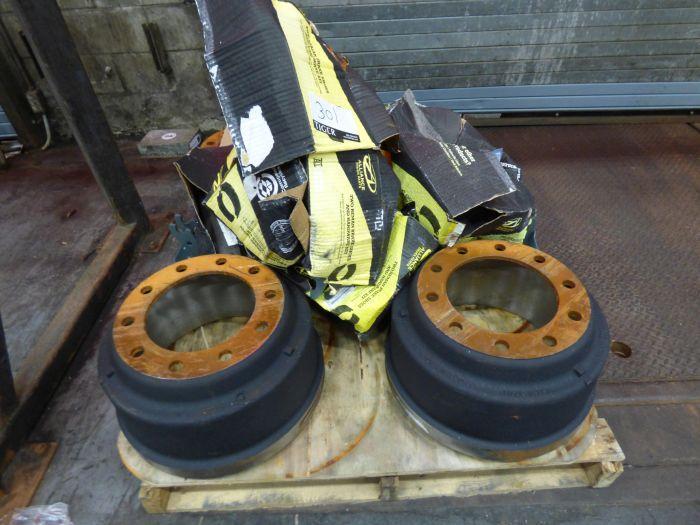 Lot Tires, Wheels, Break Shoes - Image 4 of 8