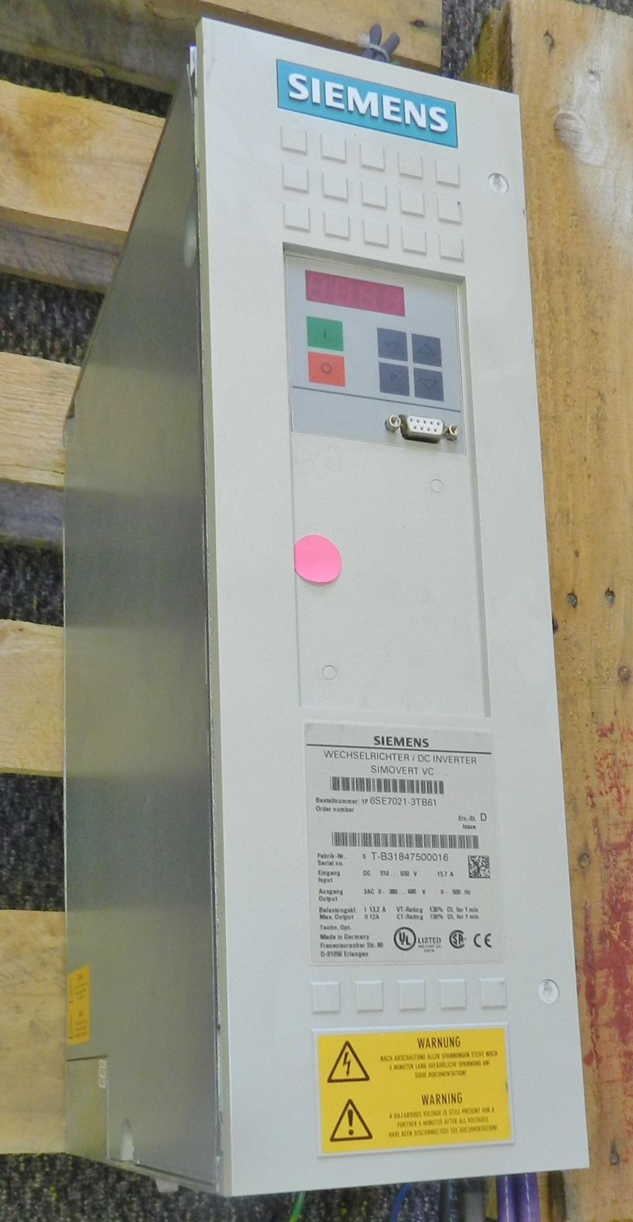 Lot 54 - Siemens DC Inverter Simovert Drive