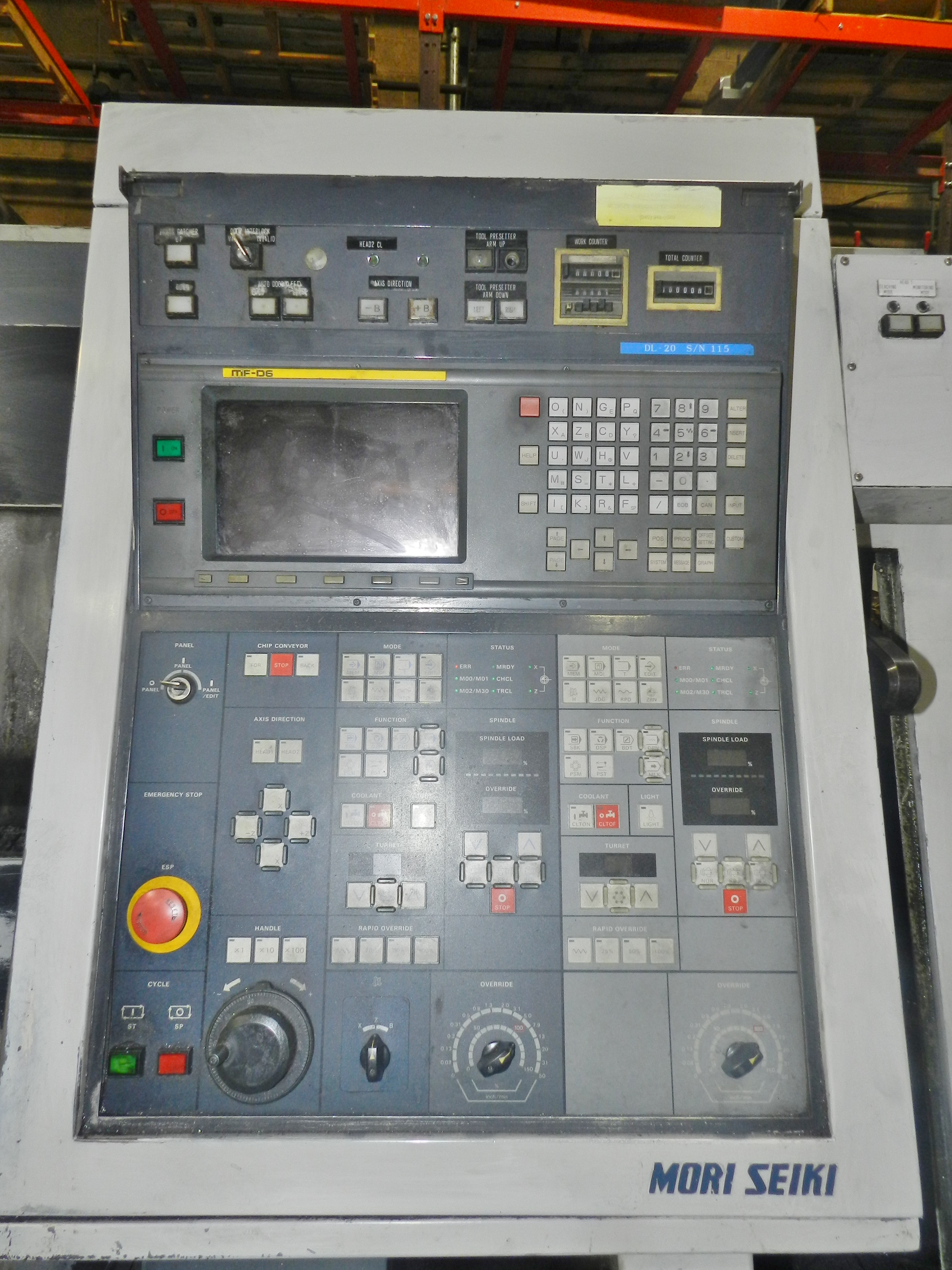 Mori Seiki DL-20 CNC Lathe - Image 8 of 12
