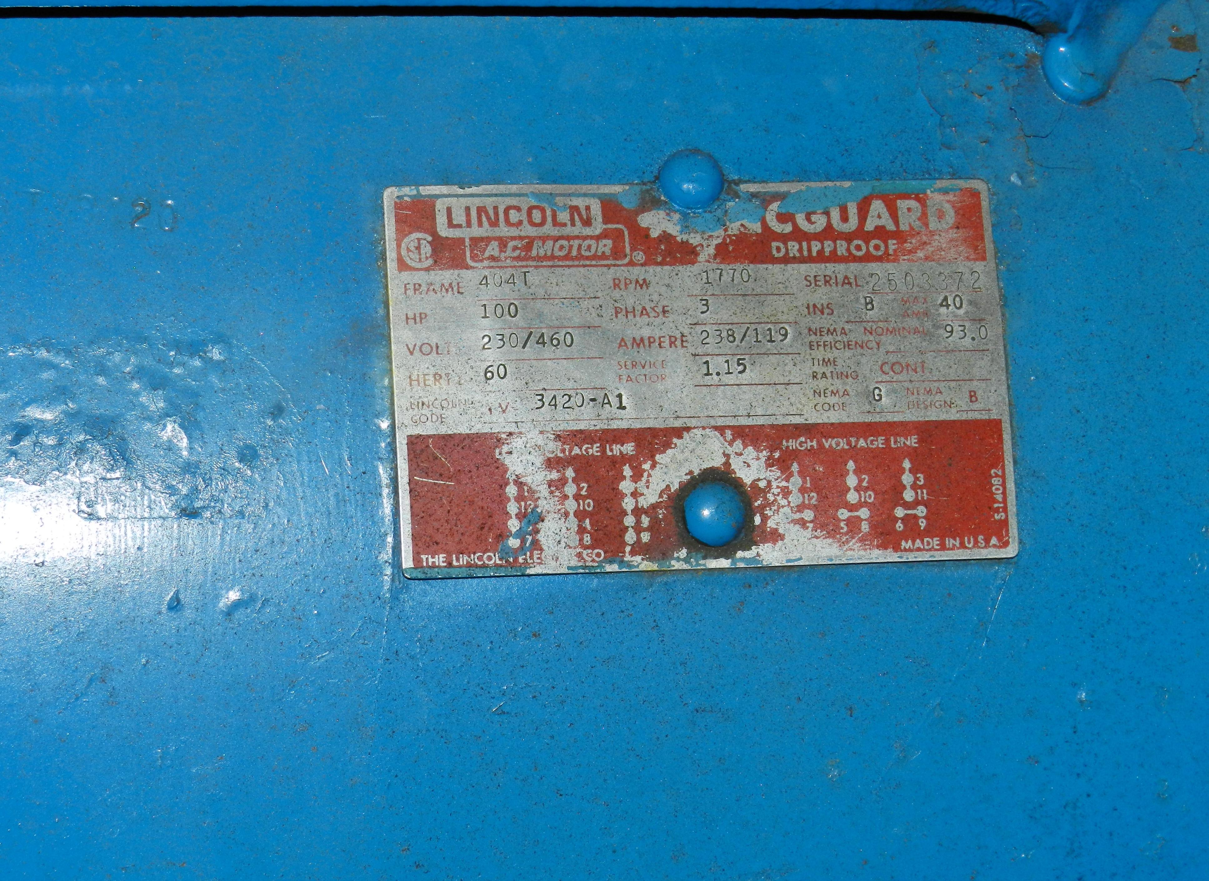Lot 26 - Leroi Dresser 100 HP Rotary Air Compressor