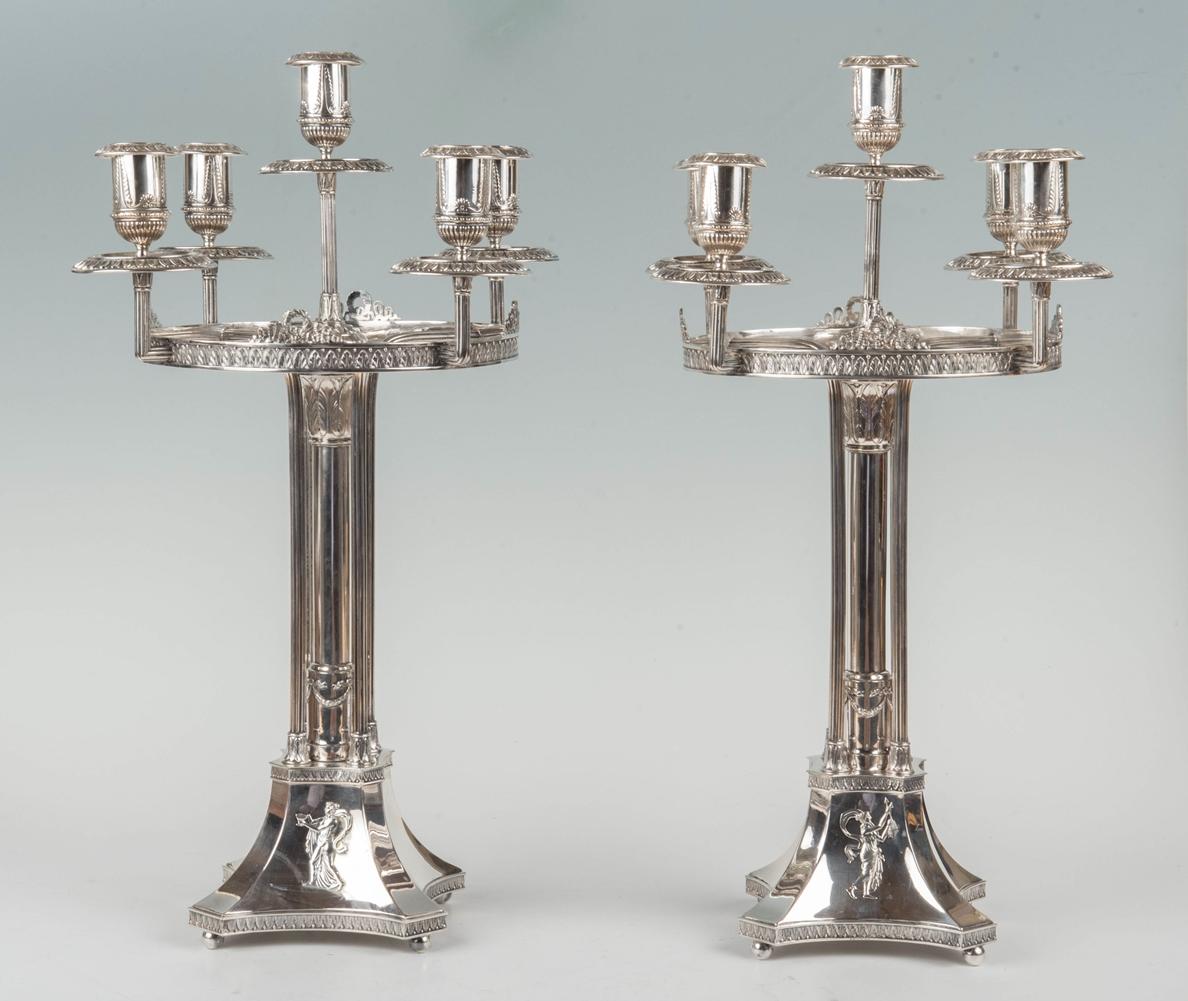 Paar Girandolen, G.E. Keyser um 1869