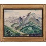 BerglandschaftJosef Dobrowsky (Karlsbad 1889 - 1964 Tullnerbach) Aquarell auf Papier, 36,5 x 50,5