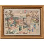 Budva, MontenegroOtto Rudolf Schatz (Wien 1900 - 1961) Aquarell auf Papier,43,5 x 60 cm,