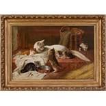 MutterglückKünstler des 19. JahrhundertsÖl auf Leinwand65 x 40 cm, gerahmtIn der Bildmitte die