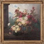 Stillleben mit üppigen BlumensträußenKonstantin Stoitzner (Chrostau 1863 - 1933 Wien)Öl auf