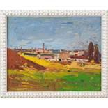 """Am LaaerbergKurt Philipp (Wien 1928) Öl auf Karton 42 x 53 cm signiert und datiert """"K. Philipp 1975"""""""