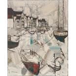 Boote im HafenJean-Pierre Rousseau (Paris 1939)Boote im HafenÖl auf Leinwand, 81 x 65 cm, signiert