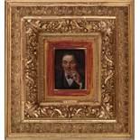 HerrenporträtJosef Kinzel (Lobenstein 1852 - 1925 Spitz/Donau)Öl auf Holz, signiert, gerahmtPortrait