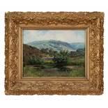 """LandschaftBertha von Grab (Prag 1840 - 1907) Öl auf Leinwand24 x 31 cm, signiert rechts unten """"B. v."""
