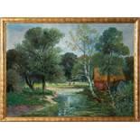 Landschaft im FrühlingAlois Arnegger (Wien 1879 - 1963)Öl auf Leinwand ca 75 x 97 cm, signiert links