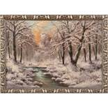 WinterlandschaftLaszlo Neogrady(Budapest 1896 - 1962)Öl auf Leinwand, 48 x 68,5 cm, signiert links