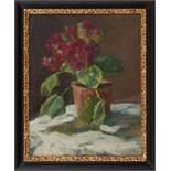 BlumenstilllebenCamilla Göbl-Wahl(Wien 1871 - 1965)Öl auf Karton49 x 38,5 cm, signiert rechts