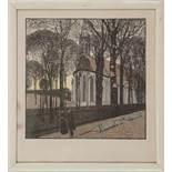 Kirche St. Michael in HeiligenstadtCarl Moll(Wien 1861 - 1945)Original Holzschnitt, 190361,8 x 50,