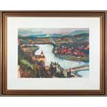 """PersenbeugFranz Wlcek (Ybbs 1911 - 1999) Gouache auf Papier 48 x 68 cm, monogrammiert und datiert """""""