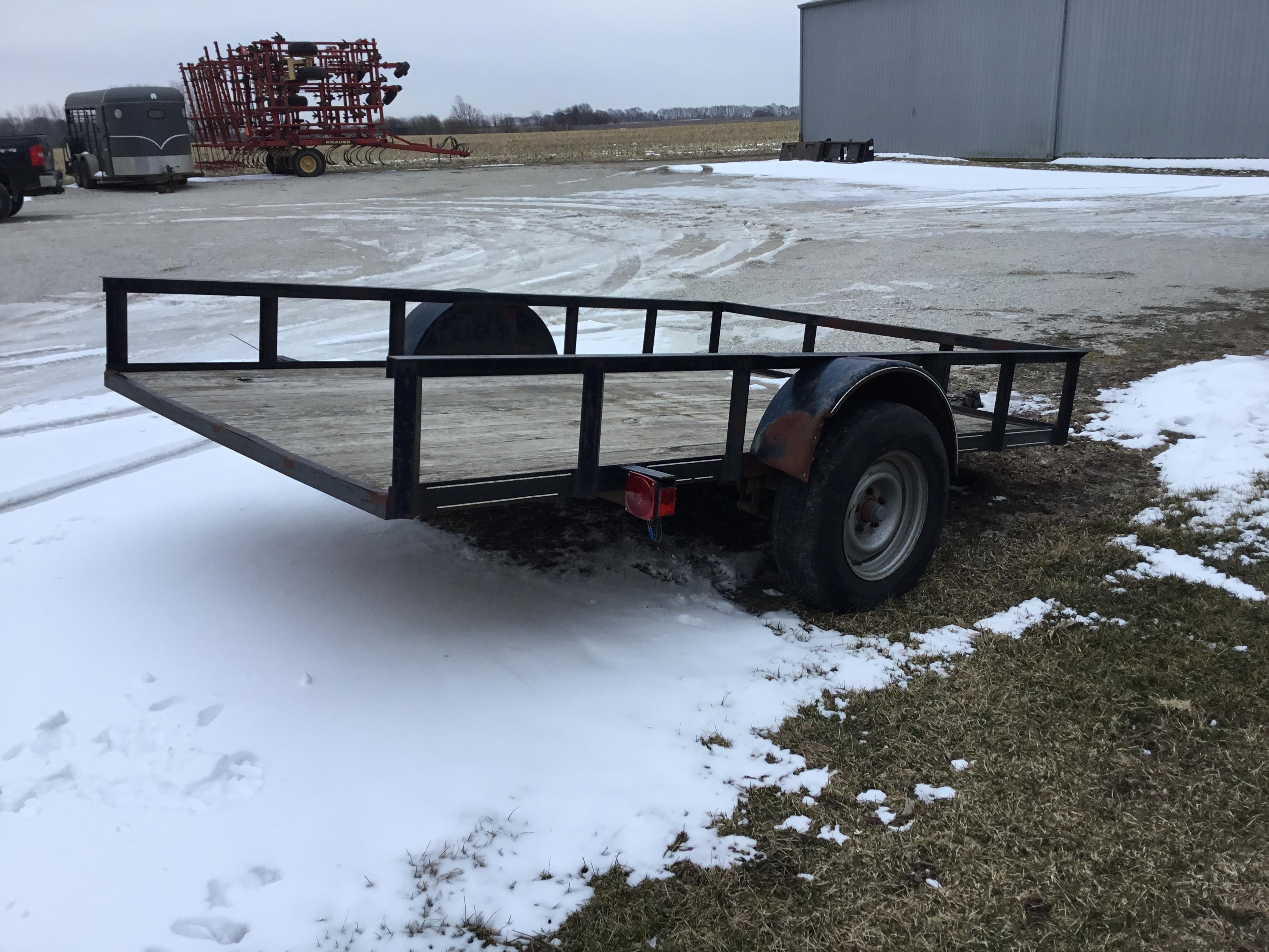Lot 25 - Utility Trailer, Single Axle, Tilt Bed