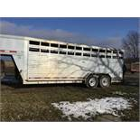 2000 Featherlite 7x20 Aluminum Livestock Trailer, 2-7,000# Axles, Center Cut Gate, (Sharp)