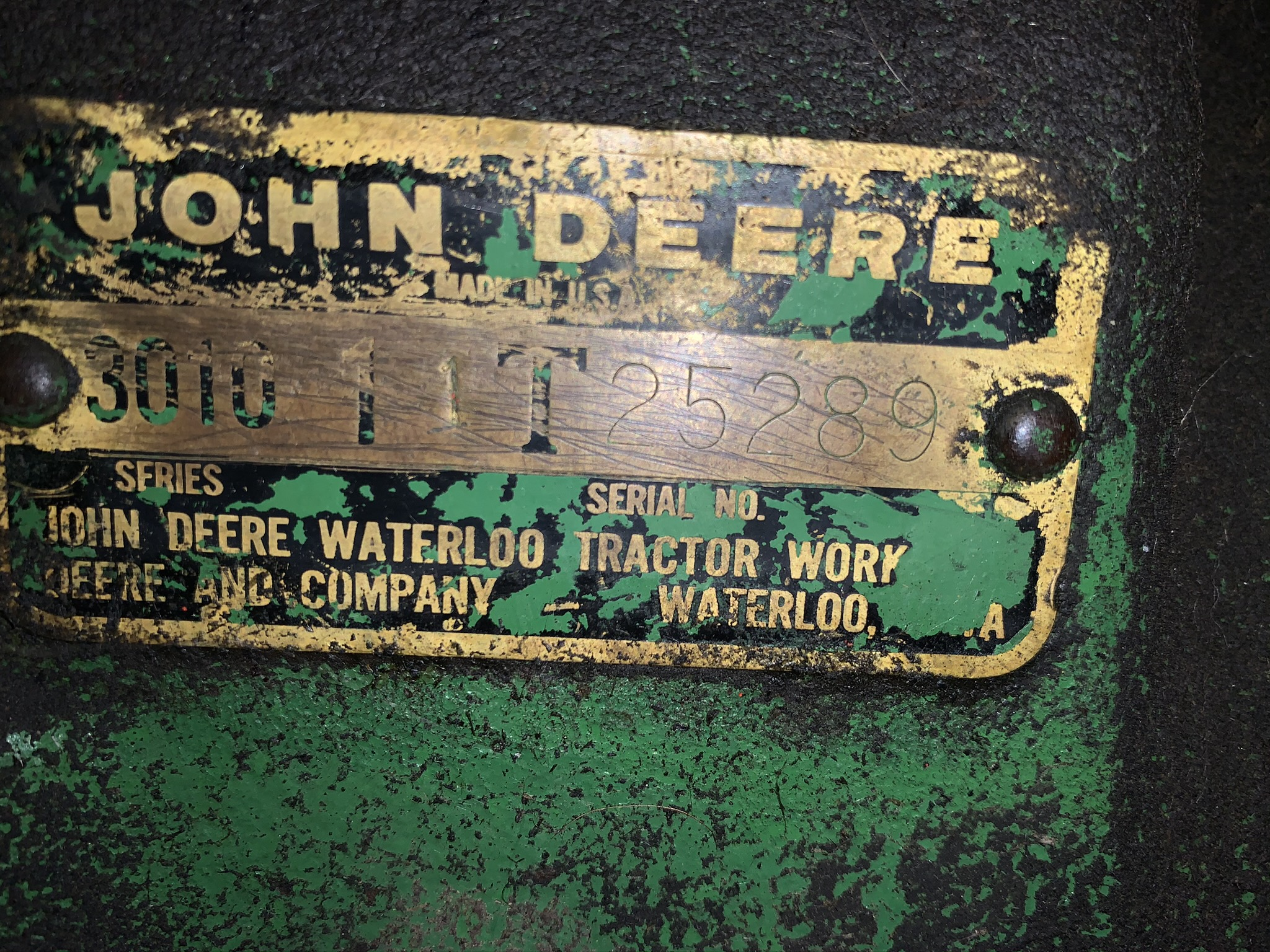 1962 JD 3010 GAS, Synchro Range Transmission, Single Hydraulic Remote - Image 2 of 4