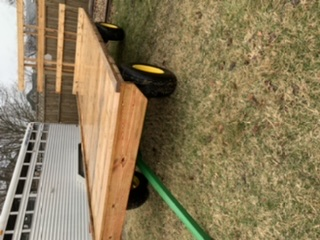 8x18 Hay Rack on Running Gear, New Top