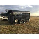 WW 16 Ft. Bumper Hitch Livestock Trailer, (Black)