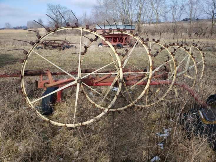 5 Wheel Hay Rake Pull Type