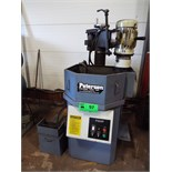 """PETERSON FG24P Flywheel grinder with 6"""" dia cup wheel, 18"""" rotary work table, coolant, s/n 2211 ("""