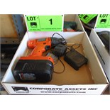 BLACK & DECKER 18V CORDLESS DRILL WITH CHARGER