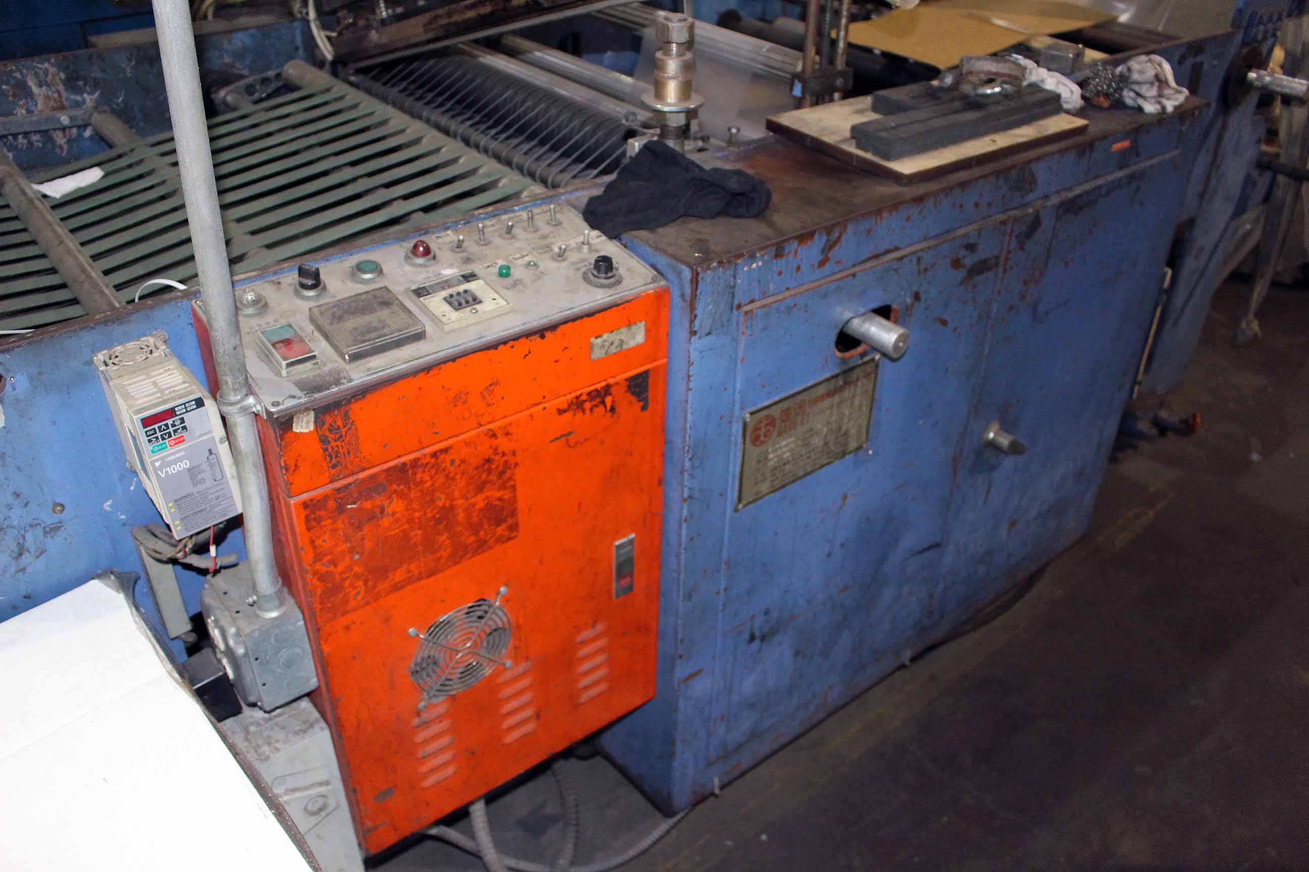 Lot 15 - SIDE/WELD MACHINE, DARE ET MDL. EV-32X50, new 1995, print sensor, S/N 320409410 (Line #3)