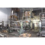 Lot 1 - BLOWN FILM BAG EXTRUSION LINE WITH 1-COLOR PRINTER, consisting of: Ilie Machinery Mdl. FPLA-55MM