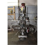 "Lot 24 - VERTICAL TURRET MILL, MSC, 9"" x 48"" table, pwr. long. table feed, spds: 150-4200 RPM, 6"" vise, S/N"