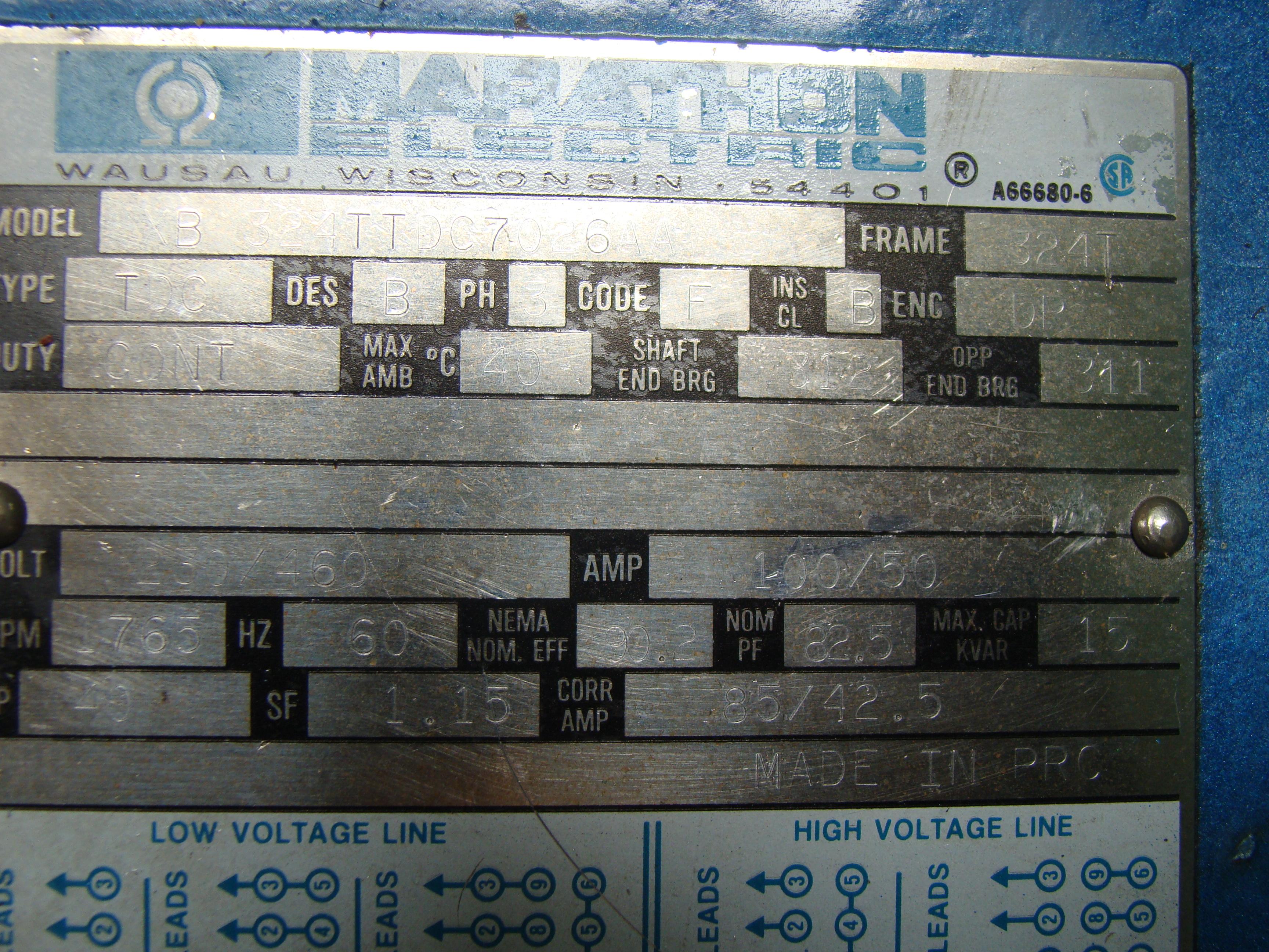"""Time Saver Speedbelt 37"""" Sander Model 237-1A 40 HP 230/460 Volt 3PH - Image 10 of 12"""