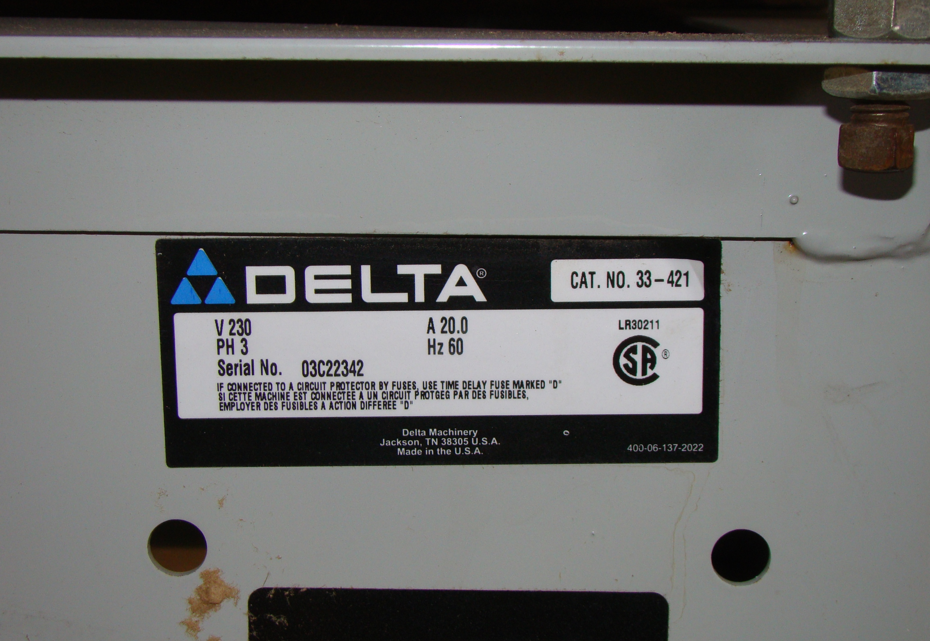 "Delta 33-421 18"" Radial Arm Saw 7.5 HP 230/460 Volt 3PH - Image 5 of 7"