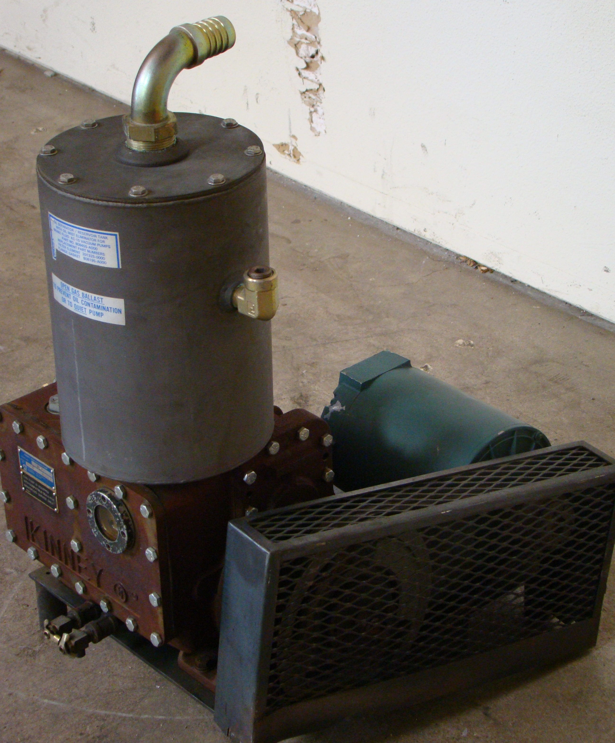 Kinney High Vacuum Hydraulic Pump 1HP 230/460 Volt 3PH - Image 3 of 4