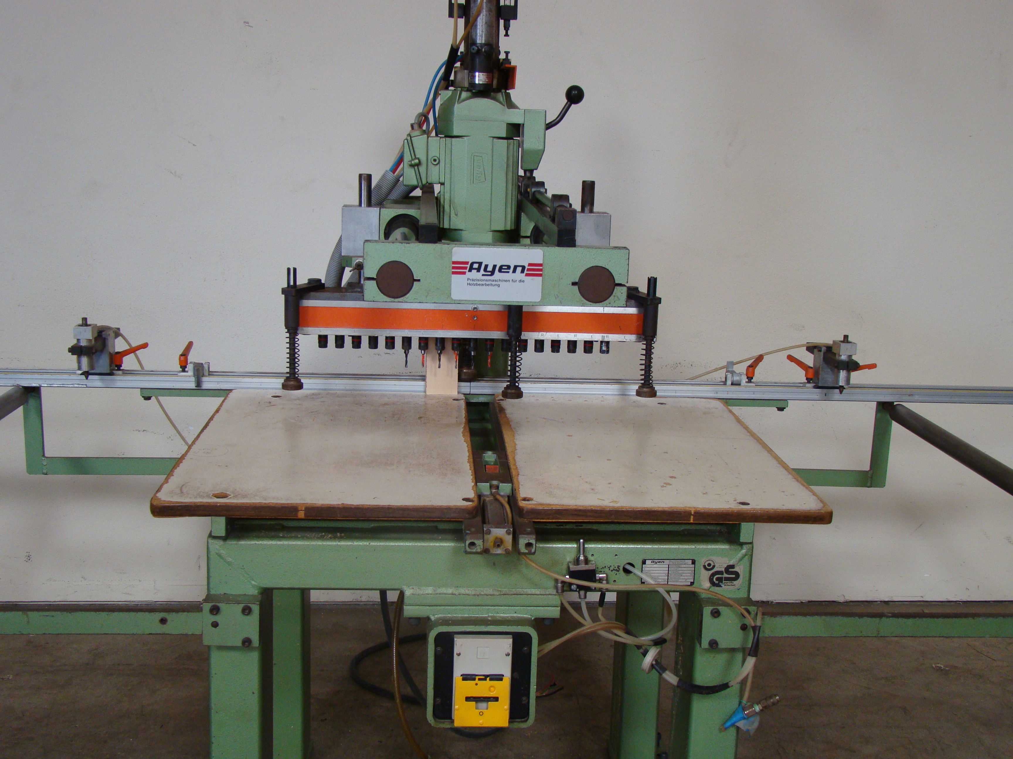 Ayen 21 Spindle Pneumatic Line Boring Machine with foot pedal, 230/460 Volt 3PH - Image 7 of 9