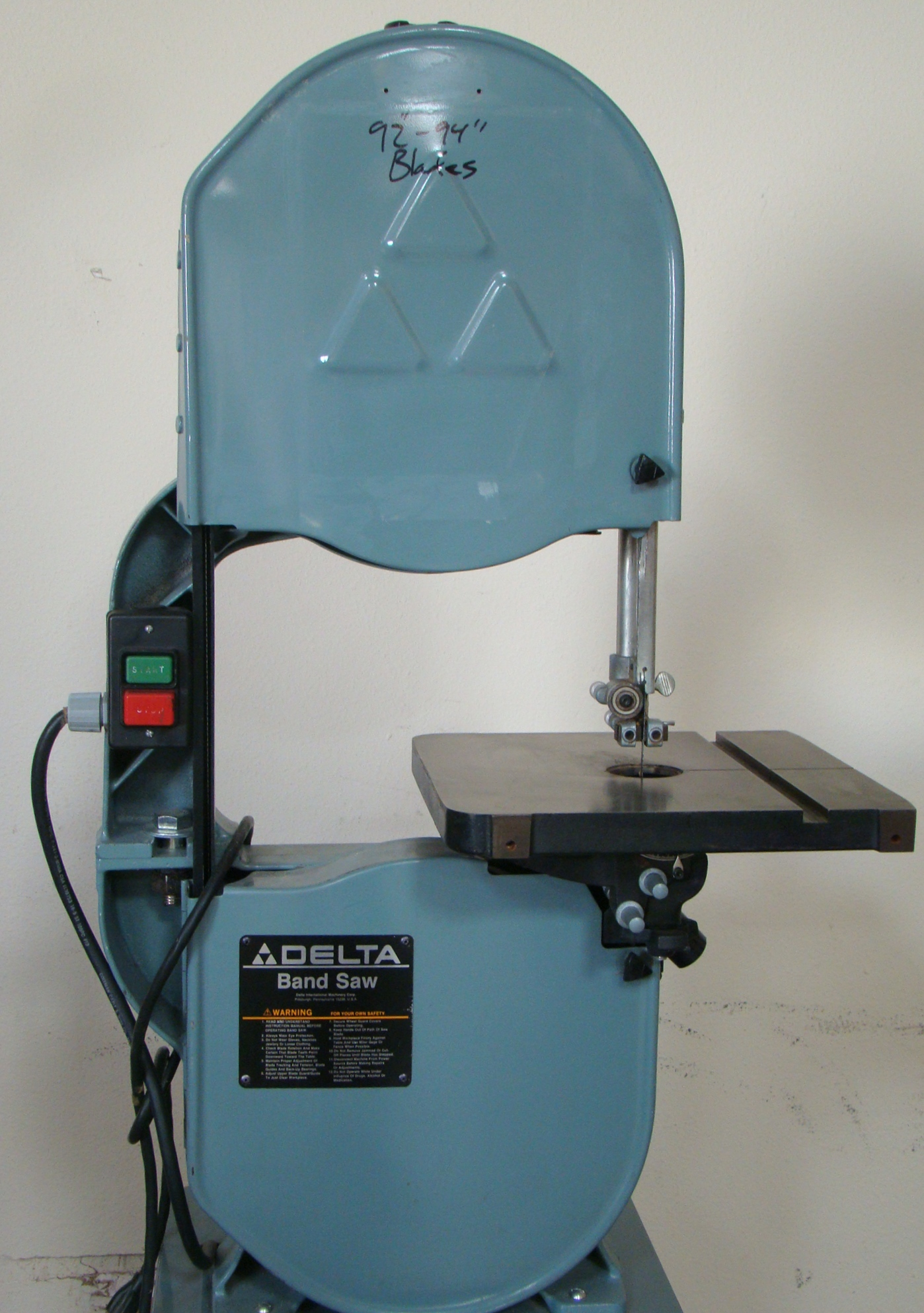 "Delta 14"" Band Saw 28-203, 3/4HP, 115 Volt 1PH - Image 3 of 9"