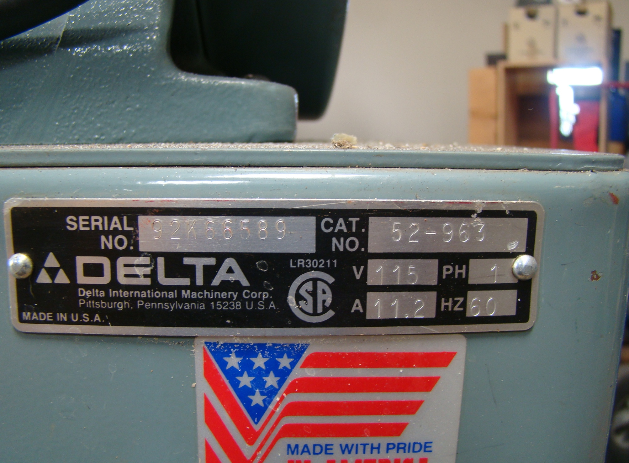 "Delta 14"" Band Saw 28-203, 3/4HP, 115 Volt 1PH - Image 8 of 9"