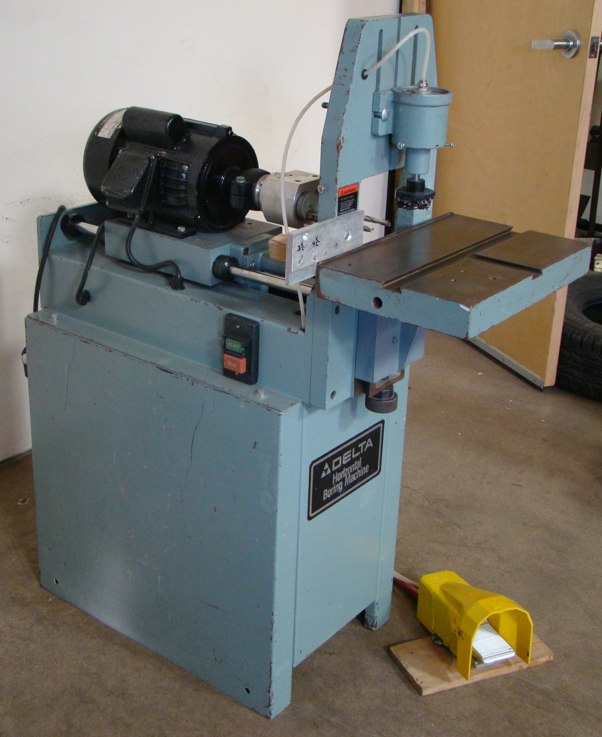 Delta Horizontal 2 Spindle Boring Machine Model #32-350, 1 HP 115/230 Volt - Image 2 of 6