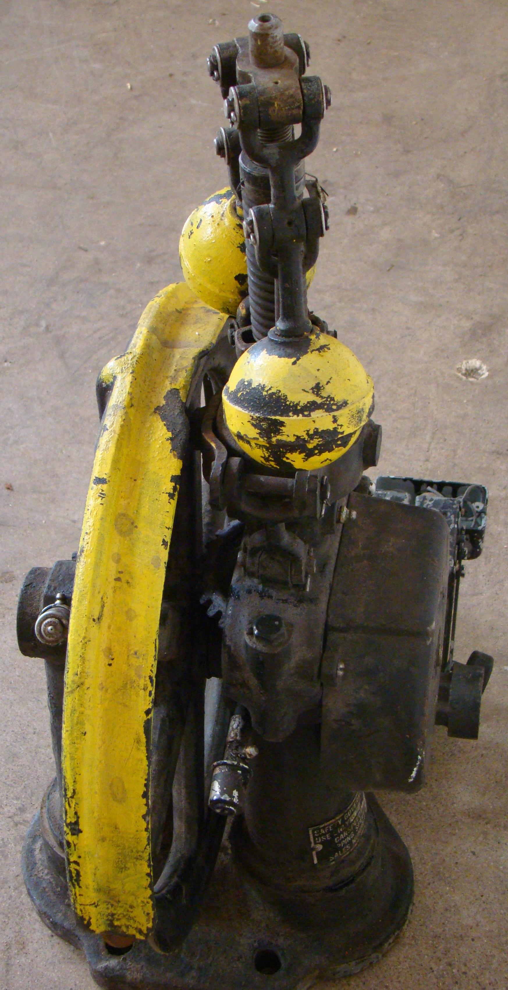 Antique Otis Elevator Safety Governor Brake, Cast Iron Brass Steampunk Carspeed, 700 FPM - Image 5 of 5