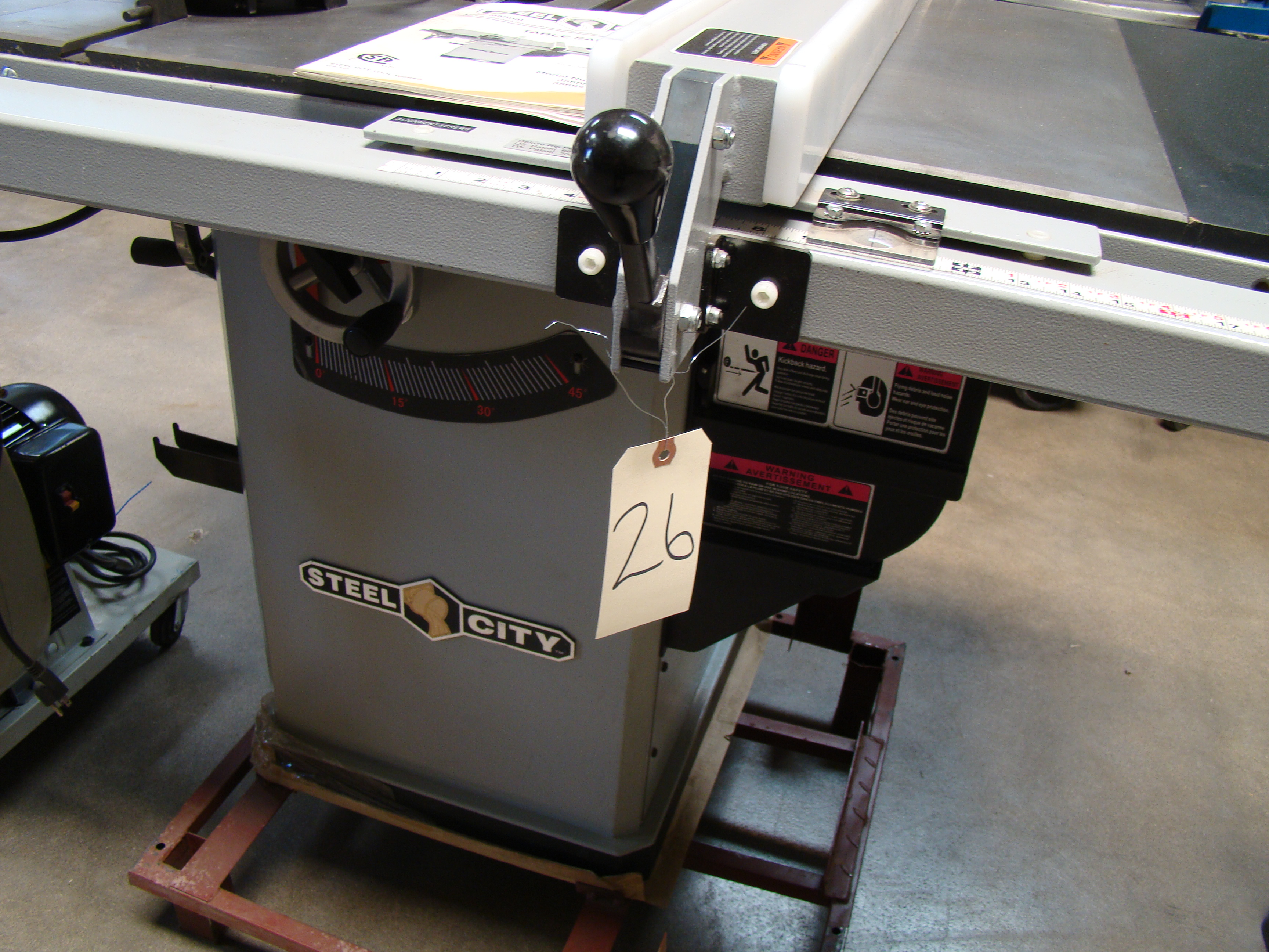 """Steel City Table/Cabinet Saw Model 35600, 34"""" Rails 1-3/4 HP 120/240 Volt 1PH - Image 7 of 7"""