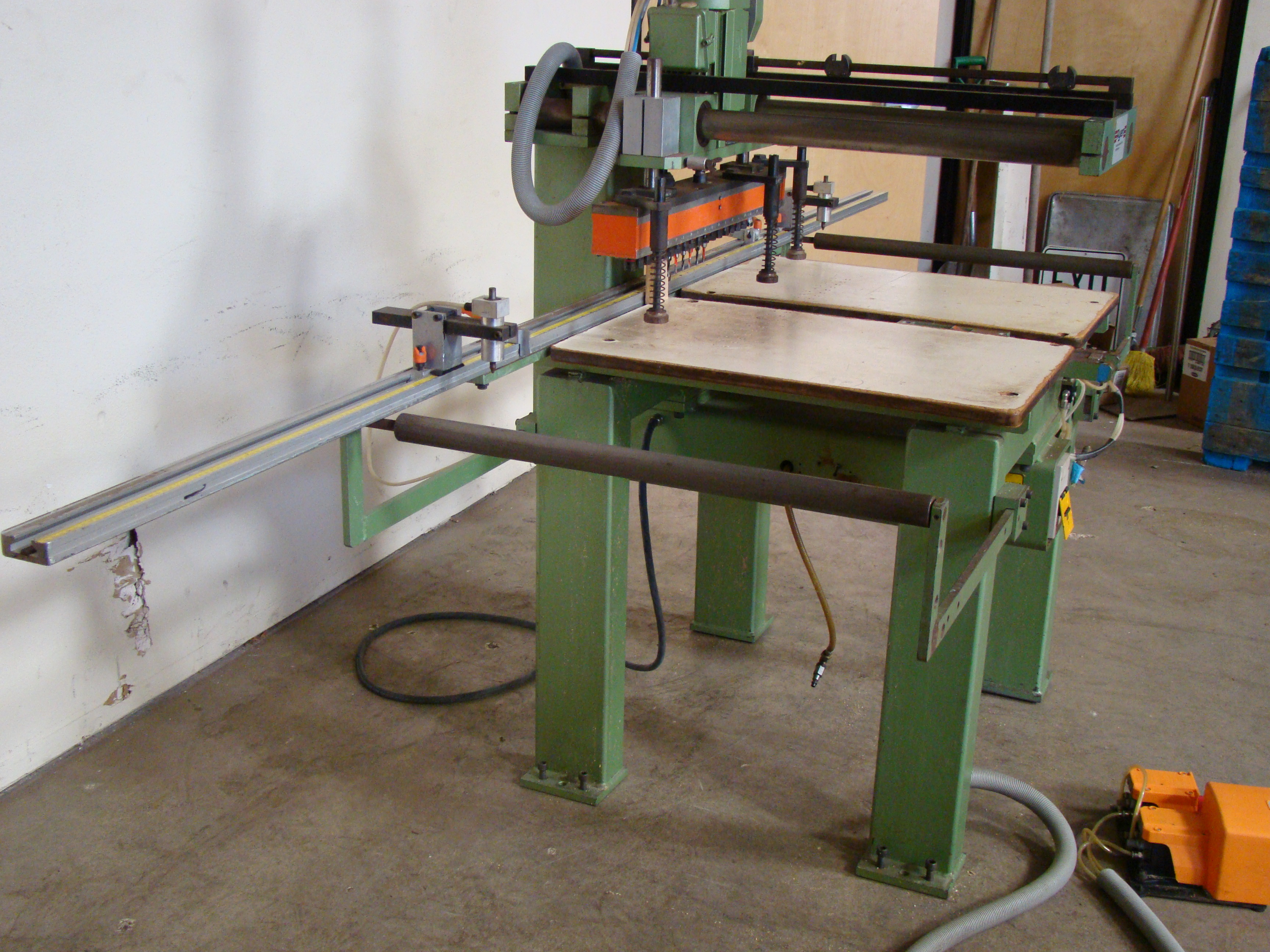Ayen 21 Spindle Pneumatic Line Boring Machine with foot pedal, 230/460 Volt 3PH - Image 6 of 9