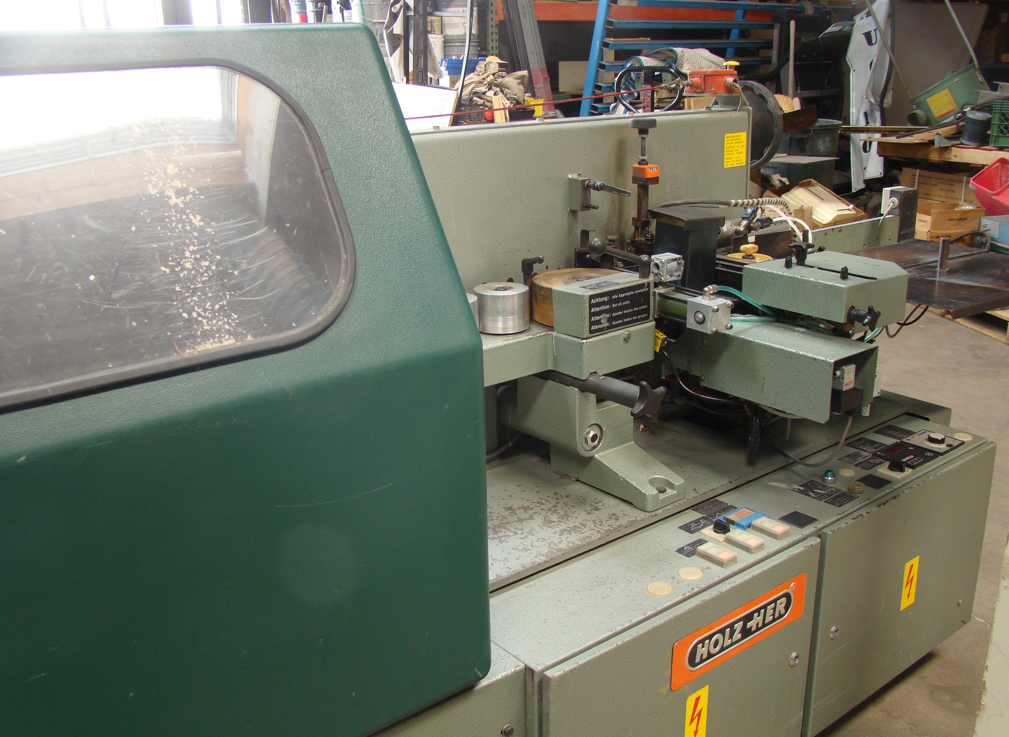 Holz-Her Edge Bander 1408 Pressure Roller, Uses GluJet, End trim stations, Flush/Bevel Scraper, - Image 5 of 10
