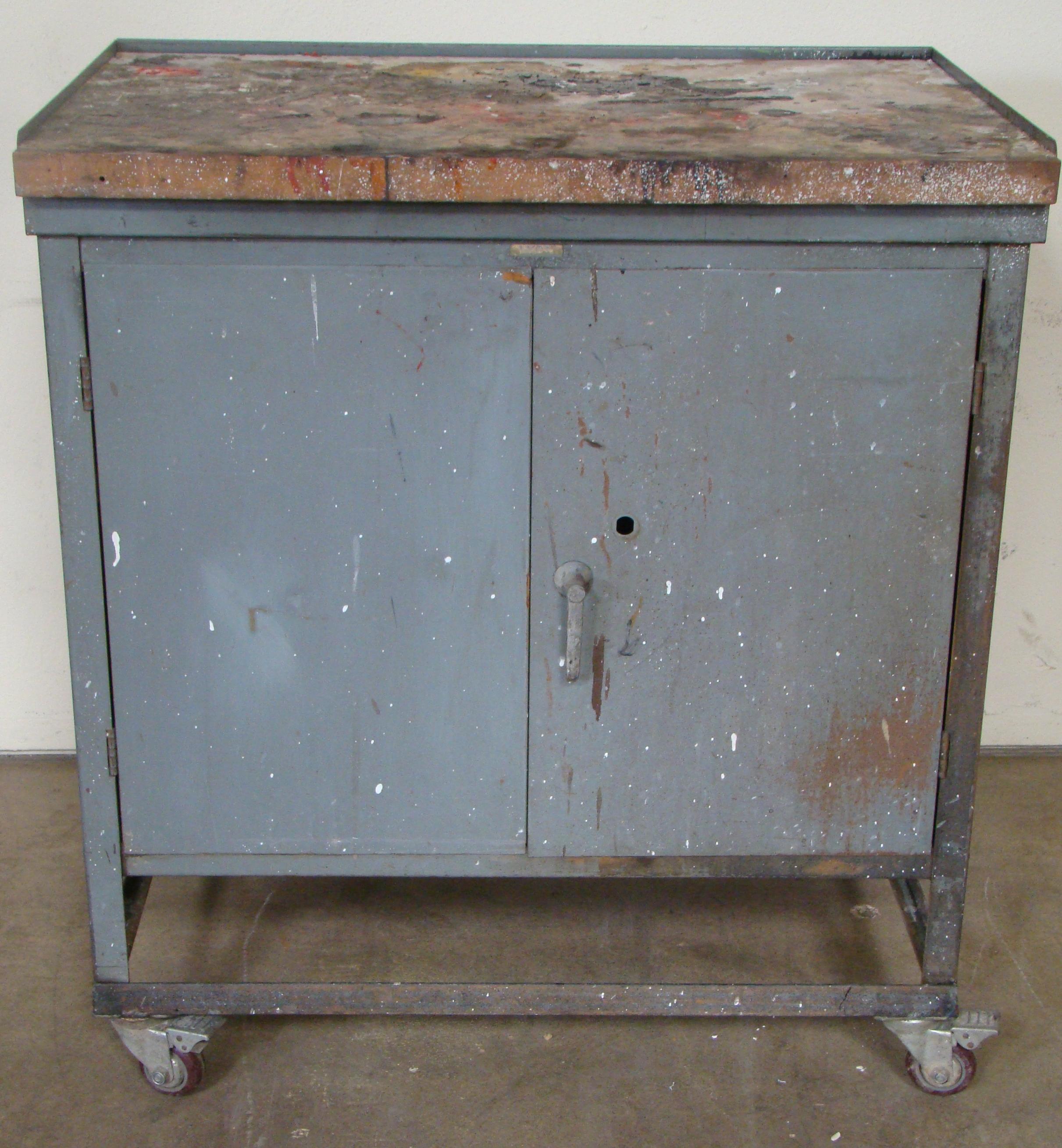"Rolling Storage Cabinet 40""h x 36""w x 25""d"