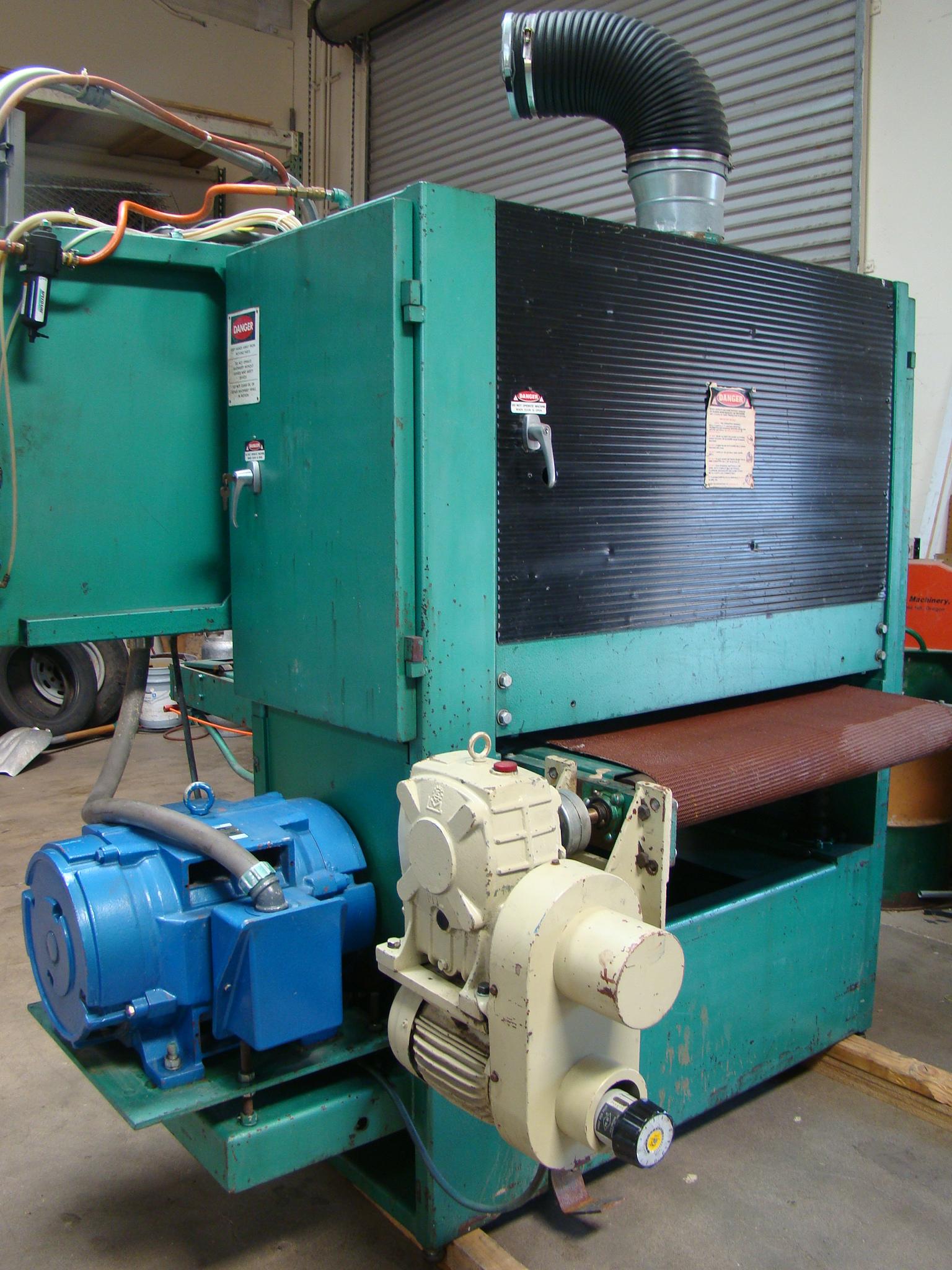 """Time Saver Speedbelt 37"""" Sander Model 237-1A 40 HP 230/460 Volt 3PH - Image 5 of 12"""