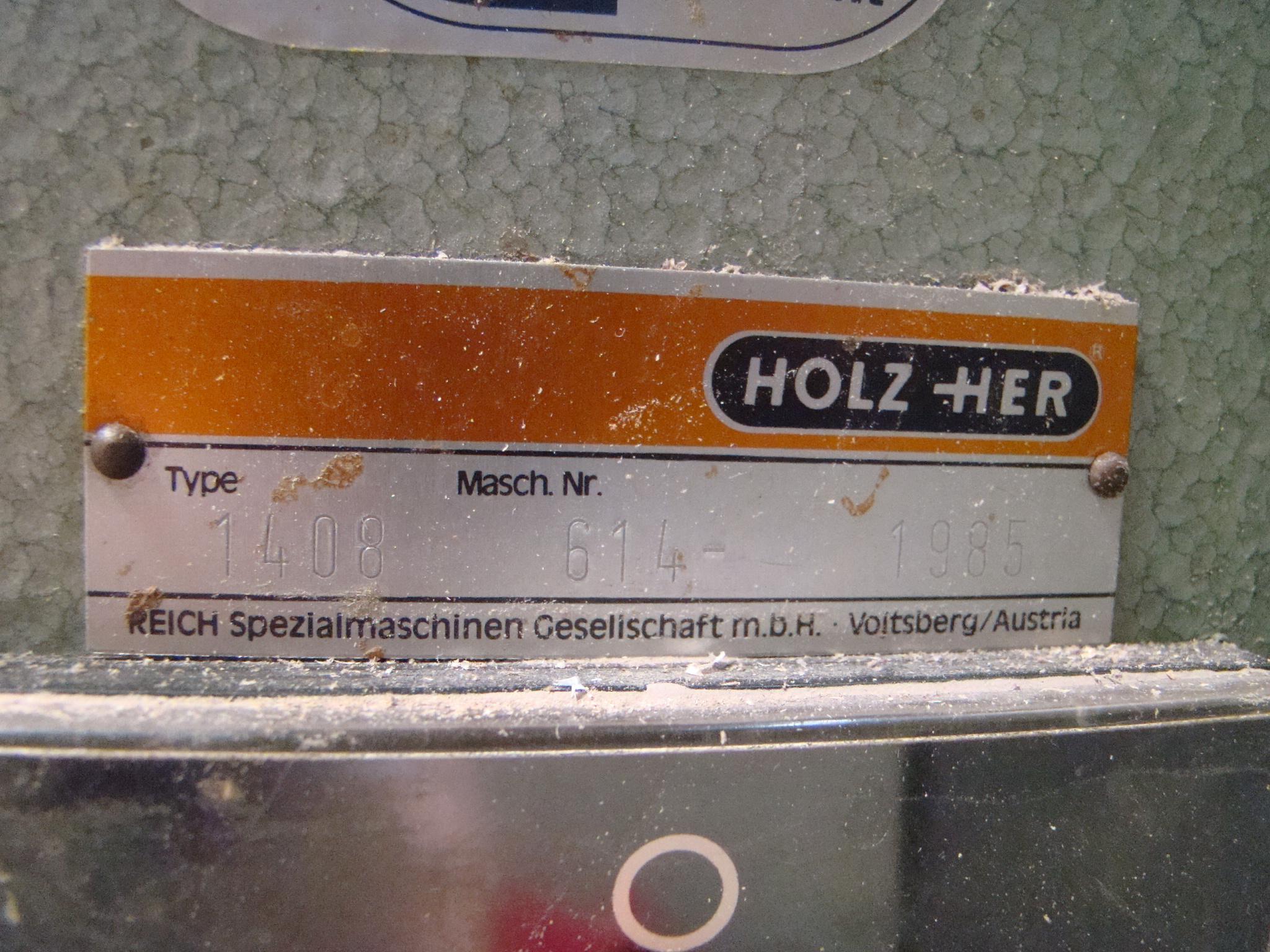 Holz-Her Edge Bander 1408 Pressure Roller, Uses GluJet, End trim stations, Flush/Bevel Scraper, - Image 7 of 10