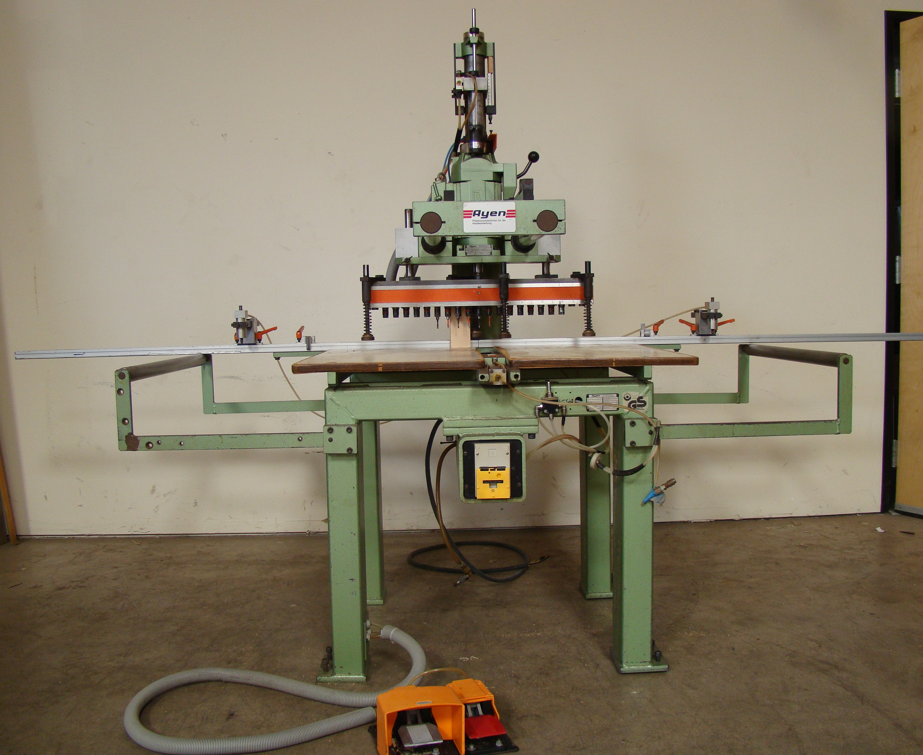 Ayen 21 Spindle Pneumatic Line Boring Machine with foot pedal, 230/460 Volt 3PH