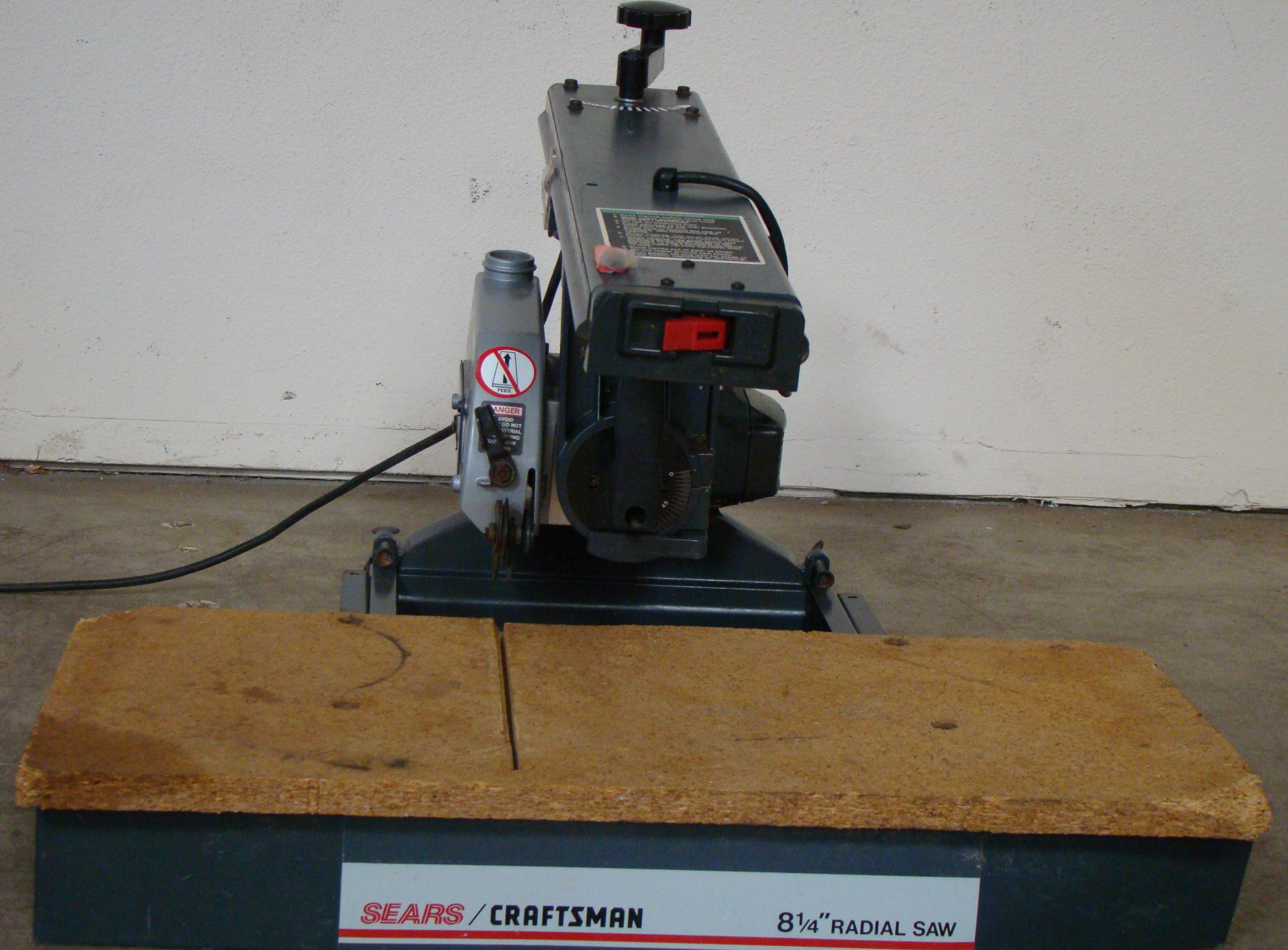 "Craftsman 8-1/4"" Radial Arm Saw 120 Volt"